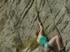 Carina beim Klettern